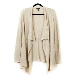 EILEEN FISHER Open Front Fall Cardigan Large Petit